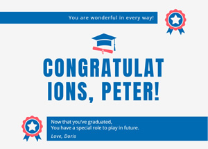 Simple Graduation Card Design