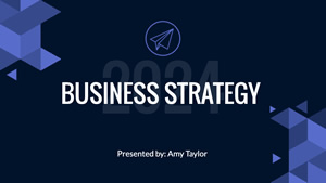 Business Strategy Presentation Design