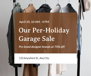 Garage Sale Facebook Post Design