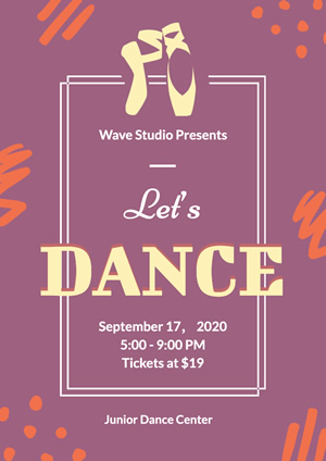 Red Dance Center Promotional Poster Design