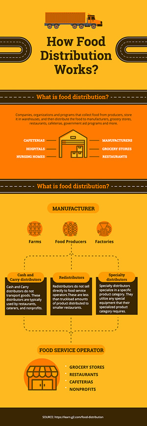 Food Distribution Infographic Design
