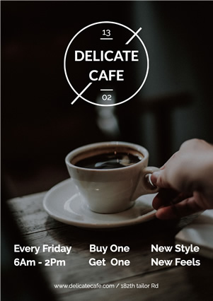 Simple Coffee Shop Advertising Flyer design