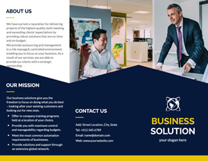 Successful Company Introduction Brochure Design
