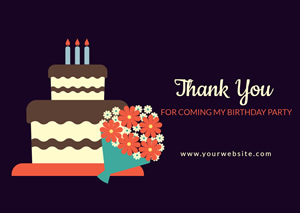 Beautiful Birthday Cake Card Design