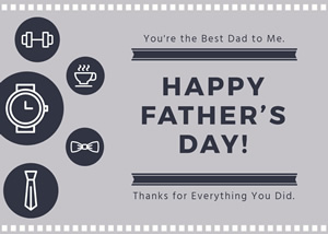 Simple Fathers Day Card Design