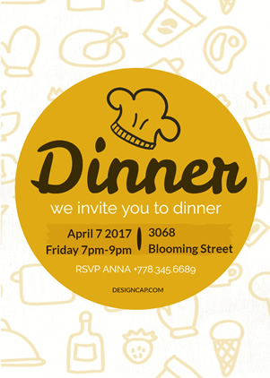 Life Dinner Invitation Design