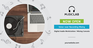 Music Recording Facebook Ad Facebook Ad Design