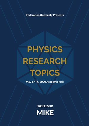 Physics Research Seminar Poster design