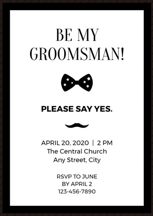 Simple Groomsman Invitation Design