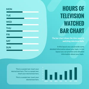 Hours of Television Watched Bar Chart Chart Design