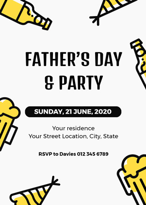 Cheering Fathers Day Invitation Design