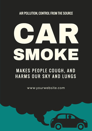 Automobile Exhaust Air Pollution Poster Poster Design