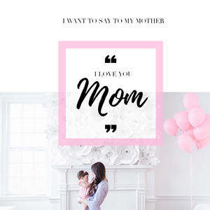 Thanks to Mom Instagram Post Design