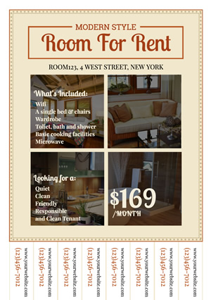 Real Estate Rent Flyer 02 design