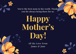 Creative Mothers Day Card Design