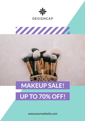 Fashion Cosmetics Sale Poster Design