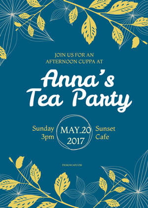 Happy Tea Party Invitation Design