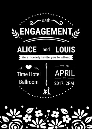 Happy Engagement Invitation Design