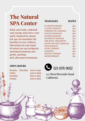 Life Spa Flyer Design