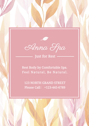 Floral Pink Spa Flyer Design