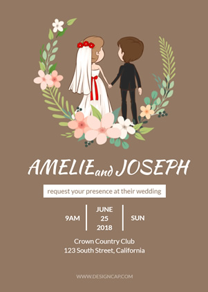 Beautiful Wedding Invitation Design