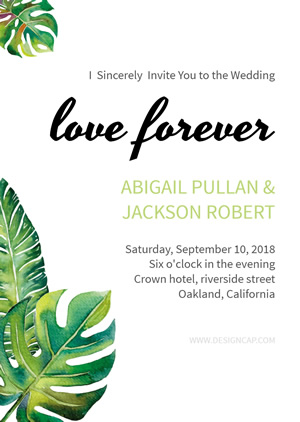 Leaf Wedding Invitation Design