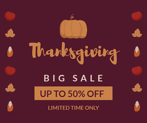 Thanksgiving Big Sale Facebook Post Design