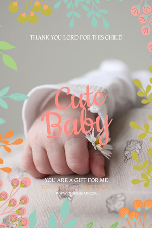 Cute Baby Pinterest Graphic Design
