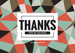 Geometric Thank You Card Design
