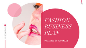 Fashion Business Plan Presentation Design