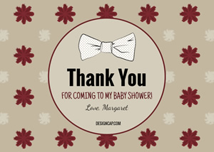 Baby Shower Thank You Card Design