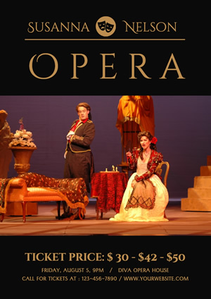Ticket Information Opera Poster Design