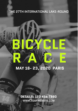 Simple Bicycle Race Poster Poster Design
