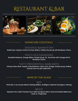 Restaurant and Bar Menu Design