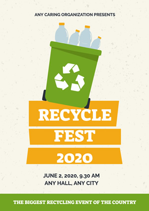 Waste Recycling Publicity Poster Design
