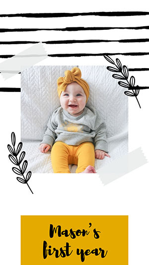 Baby Collage design