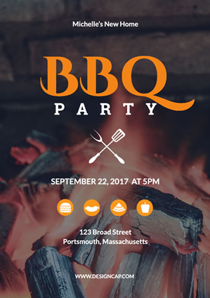 Bbq Party New Home Poster Design