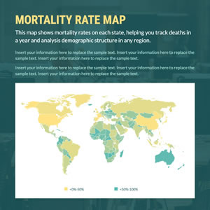 Mortality Rate Map Chart Design