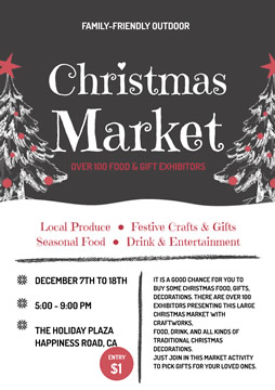 Life Market Christmas Flyer Design
