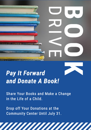 Blue Book Donation Flyer design