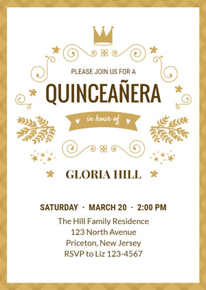 Attractive Quinceanera Invitation Design