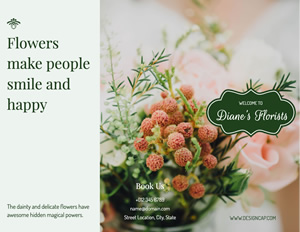 Cheerful Flower Brochure Design