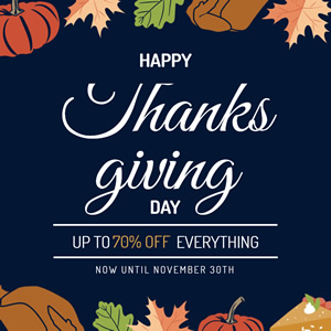 Thanksgiving Big Sales Instagram Post Design