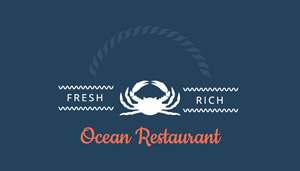 Sea Food Restaurant Card Business Card Design