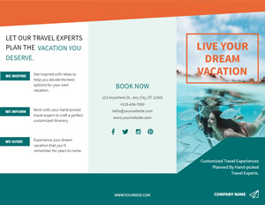 Vacation Travel Brochure Brochure Design