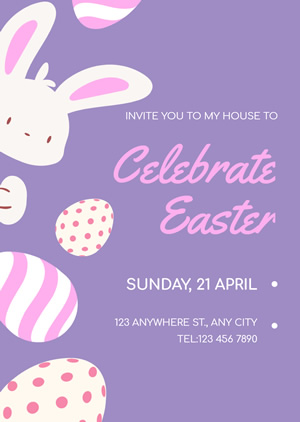 Cute Easter Invitation Design