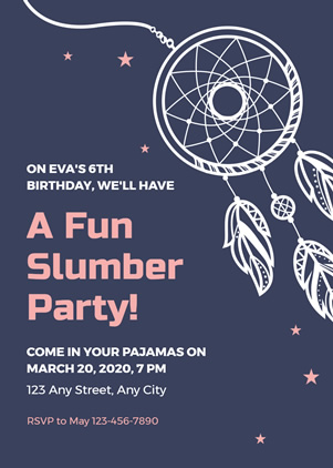 Sleepover Party Invitation Design