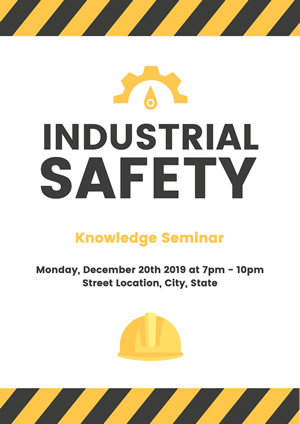 Simple White Industrial Safety Poster Design