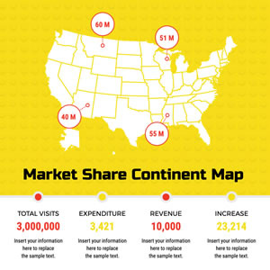 Market Share Map Chart Design