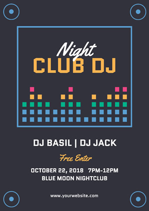 Dark Nightclub Dj Poster Poster Design